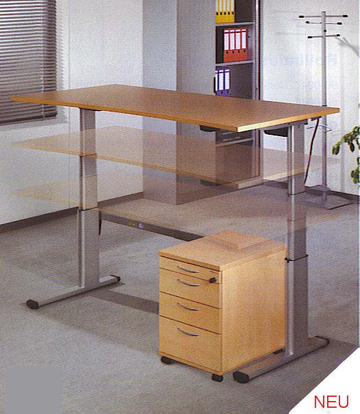 h henverstellbares tischgestell schreibtischgestell tisch ohne platte elektrisch ebay. Black Bedroom Furniture Sets. Home Design Ideas